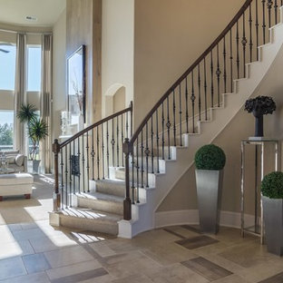 Staircase - transitional staircase idea in Houston