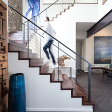 Transitional Staircase by Paul Hills Construction