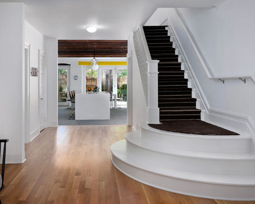 Inspiration For A Large Contemporary Painted Straight Staircase Remodel In  New York
