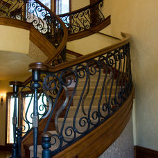 Rustic Staircase by Designing Images LLC
