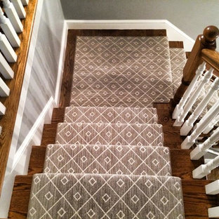 Inspiration for a contemporary staircase remodel in Boston