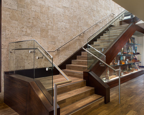 Superb Inspiration For A Large Contemporary Tile Floating Staircase Remodel In San  Diego
