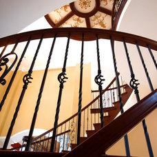 Mediterranean Staircase by Alpine Design Custom Homes LLC