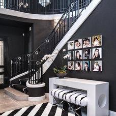Contemporary Staircase by Orange Coast Interior Design