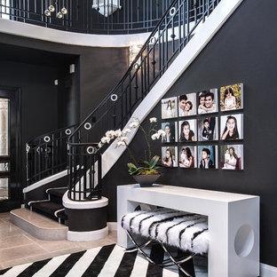 オレンジカウンティのコンテンポラリースタイルのおしゃれな階段の写真