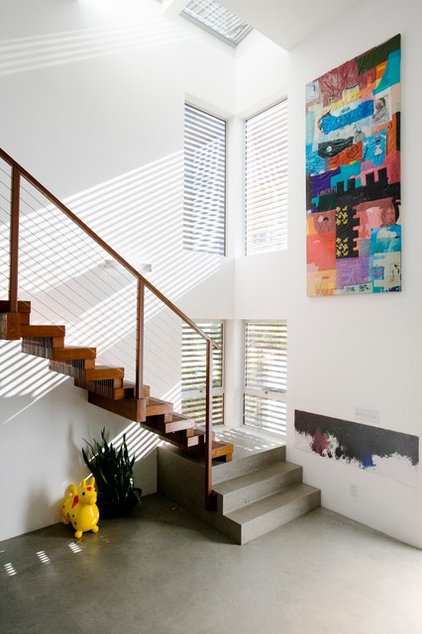 Contemporary Staircase by David Hertz & Studio of Environmental Architecture