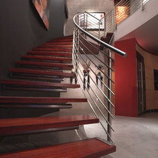 Modern Staircase by Mesh Architecture and Fabrication
