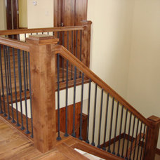 Rustic Staircase by DM Neuman Construction Co.