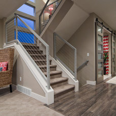 Contemporary Staircase by Candlelight Homes