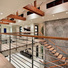 Contemporary Staircase by Brandon Architects, Inc.