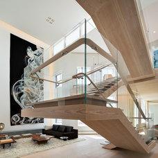 Contemporary Staircase by Gabellini Sheppard Associates