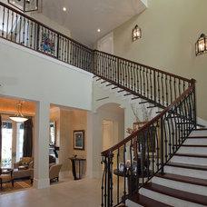 Mediterranean Staircase by Dorlom Construction