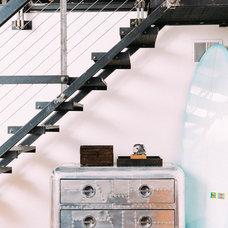 Industrial Staircase by Daphne Steinberg Interior Design