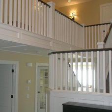Contemporary Staircase by krista hermanson design