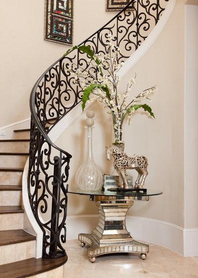 Mediterranean Staircase by Hann Builders