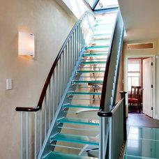 Contemporary Staircase by Lisa Teague Design Studios