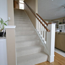 beach style staircase by Cottage Home, Inc.