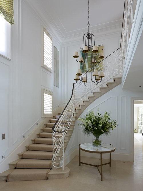 photos et id es d co d 39 escaliers m diterran ens. Black Bedroom Furniture Sets. Home Design Ideas