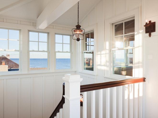 Beach Style Staircase by Richard Bubnowski Design LLC