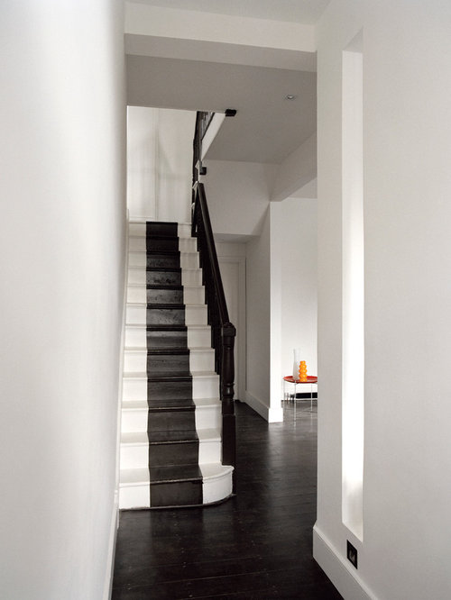Contemporary Painted Straight Staircase Idea In London
