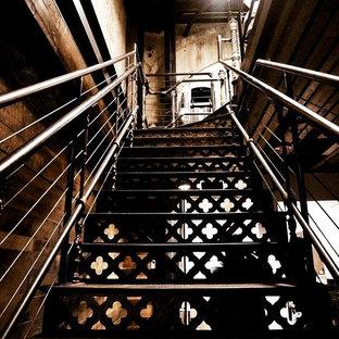 Réalisation d'un escalier urbain.