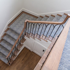 Transitional Staircase by Laura U, Inc.