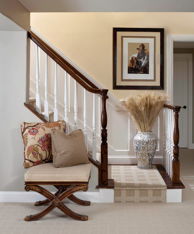 Traditional Staircase by Laura Iverson Design