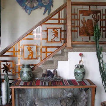 Southwestern Stair Railing in Translucent Copper