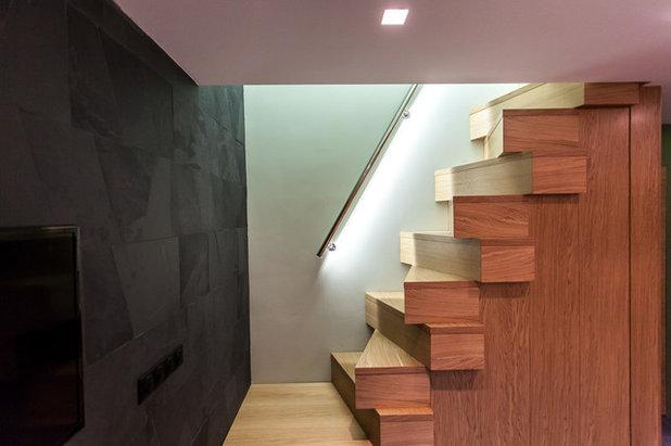 Современный Лестница by Shamsudin Kerimov Architects