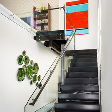 Contemporary Staircase by Spaces Designed, Interior Design Studio, LLC