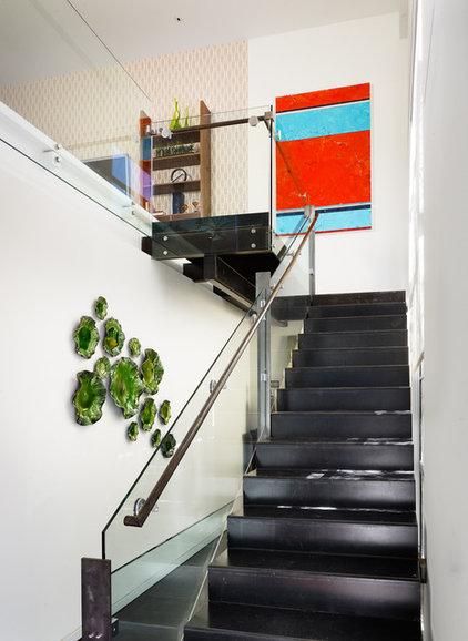 Contemporary Staircase by Spaces Designed, Interior Design Studio, LLC