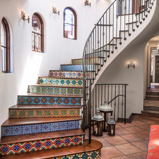 Mediterranean Staircase by Norman Design Group, Inc.