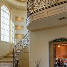 Mediterranean Staircase by Atrium Fine Homes