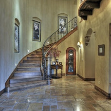 Mediterranean Staircase by Integrity Luxury Homes
