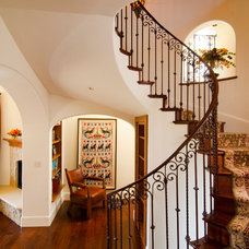 Mediterranean Staircase by Zicovich Builders, Inc.