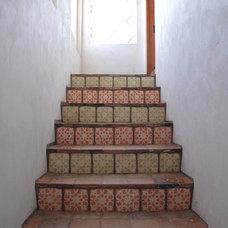 Mediterranean Staircase by Hugh Jefferson Randolph Architects