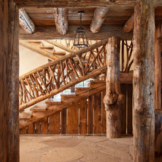 Rustic Staircase by Lohss Construction