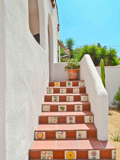 Southwestern Staircase Ideas, Designs & Remodel Photos   Houzz