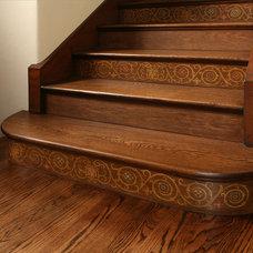 Mediterranean Staircase by Cynthia Bennett & Associates