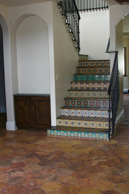 Mediterranean Staircase by Dave Powers Construction