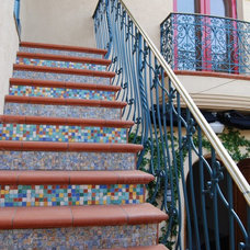 Eclectic Staircase by Connie McCreight Interior Design