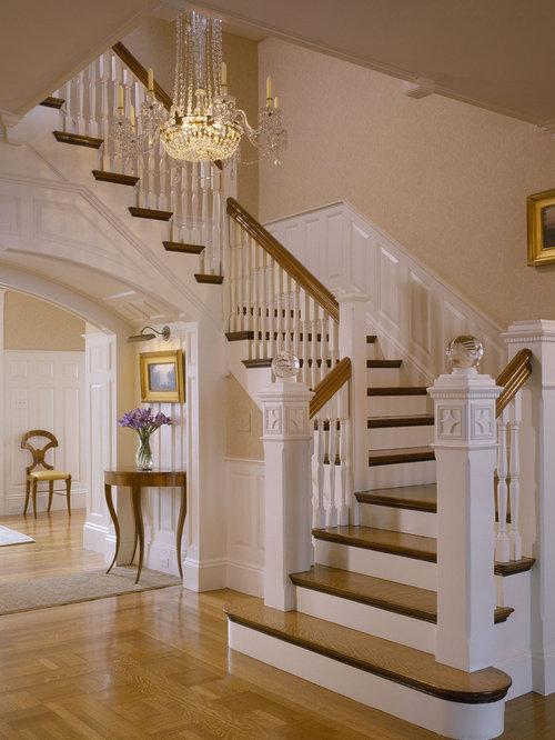 Elegant Wooden Staircase Photo In Boston
