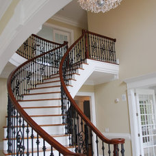 traditional staircase by Tipton Builders