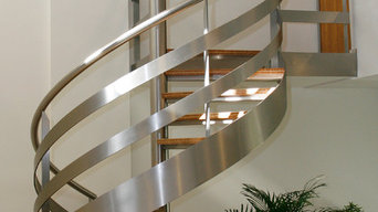 Spiral Stair with Wood Treads