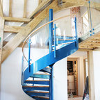 Elite Metalcraft Project Helical Staircase And Glass