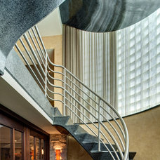 Contemporary Staircase by Fredman Design Group