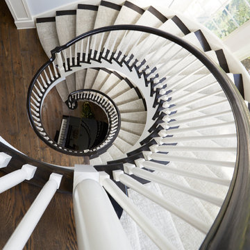 Spiral Staircase from Basement to Second Floor