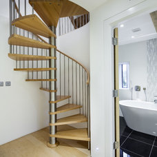 Contemporary  Spiral Staircase - Gloucester