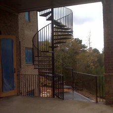 Traditional Staircase by Womack Iron