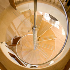 Modern Staircase by Lasley Brahaney Architecture + Construction